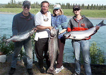 Alaska River Salmon Fishing