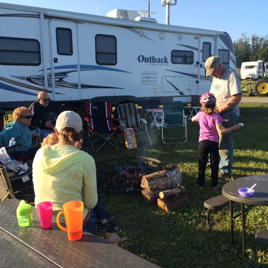 A family RV camping at our campground
