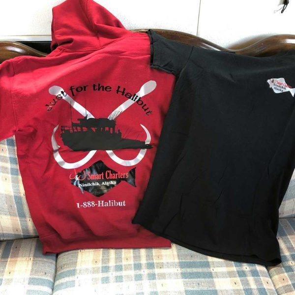 Shirt and hoodie with J&J logo