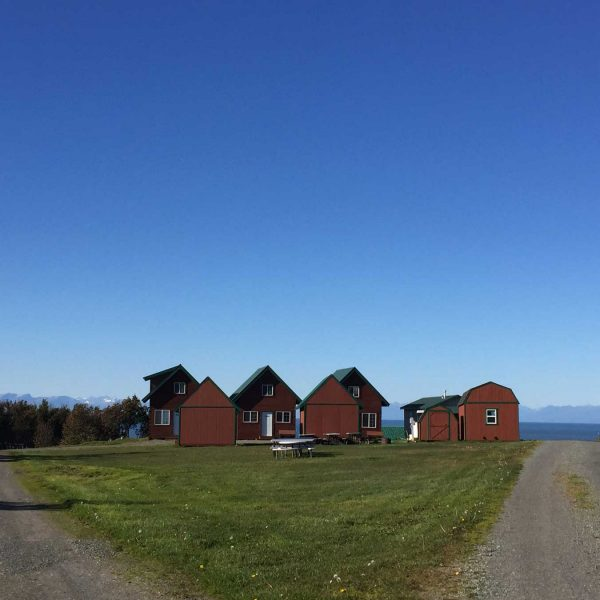 Photo of our cabins from a distance