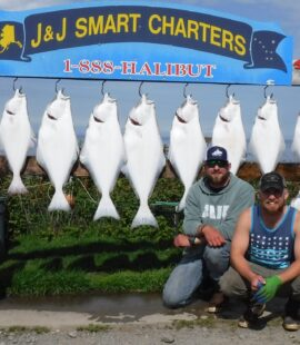 capozzi and bauman parties with 9 halibut